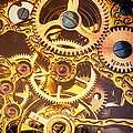 Gold Pocket Watch Gears by Garry Gay