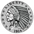 Gold Quarter Eagle by Fred Larucci