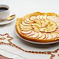 Golden Apple Tart And Coffee Cup by Alain De Maximy