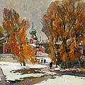 Golden Autumn Under Snow by Juliya Zhukova