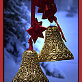 Golden Bells Red Greeting Card by Thomas Woolworth