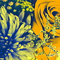 Golden Blossoms Pop Art by Dora Sofia Caputo Photographic Design and Fine Art