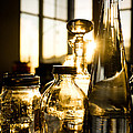 Golden Bottles And Mason Jars by Wei-San Ooi