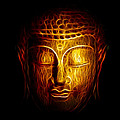 Golden Buddha Abstract by Adam Romanowicz