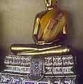 Golden Buddha On Pedestal by Bob Phillips