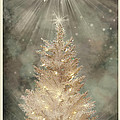 Golden Christmas Tree by Kristie  Bonnewell