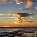 Golden Clouds And Blue Sky by Christiane Schulze Art And Photography