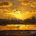Golden Dawn - Canvas by Geoff Childs