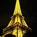 Golden Eiffel Tower by Rasma Raisters