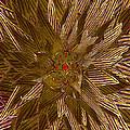 Golden Flower - Ruby Heart by Michele Avanti