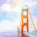 Golden Gate Bridge 2 by Carlin Blahnik CarlinArtWatercolor