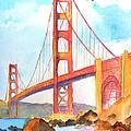 Golden Gate Bridge 3 by Carlin Blahnik CarlinArtWatercolor