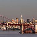 Golden Gate Bridge And San Francisco Panoramic by Lee Kirchhevel