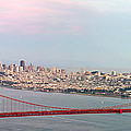Golden Gate Bridge And San Francisco Skyline by Jit Lim