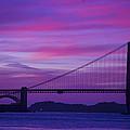 Golden Gate Bridge At Twilight by Garry Gay