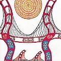 Golden Gate Bridge Dancing In The Wind by Michael Friend