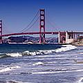 Golden Gate Bridge - Seen From Baker Beach by Melanie Viola