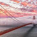 Golden Gate Bridge Sunset Evening Commute by Dave Gordon