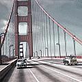 Golden Gate Crossing by Eric  Bjerke Sr