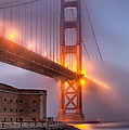 Golden Gate In Fog by Jerry Fornarotto