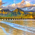 Golden Hanalei Morning by Dominic Piperata