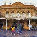 Golden Horseshoe Frontierland Disneyland Photo Art 02 by Thomas Woolworth