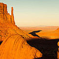 Golden Hour At Monument Valley - Arizona And Utah Border by Gregory Ballos