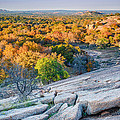Golden Hour Light Enchanted Rock Texas Hill Country by Silvio Ligutti
