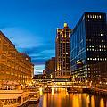 Golden Hour Milwaukee River by Andrew Slater