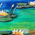Golden Lillies by Daniel Dubinsky