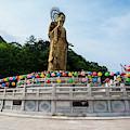 Golden Maitreya Statue, Beopjusa Temple by Michael Runkel