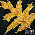 Golden Oak Leaf by Lizi Beard-Ward