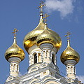 Golden Onion Domes - Church Yalta by Christiane Schulze Art And Photography