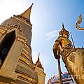 Golden Pagoda And Monster by Panai Thanacharoenyada