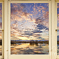 Golden Ponds Scenic Sunset Reflections 4 Yellow Window View by James BO  Insogna