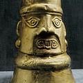 Golden Portrait Vessel. Pre-inca by Everett
