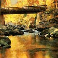 Golden Reflection Autumn Bridge by Dan Sproul