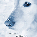 Golden Retriever Dog Let It Snow Holiday Card by Jennie Marie Schell