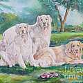 Golden Retriever Trio by Gail Dolphin