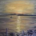 Golden Sea View by Teresa White
