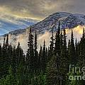Golden Shawl On The Mountain by Gary Holmes