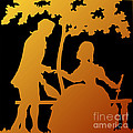 Golden Silhouette Garden Proposal Will You Marry Me by Rose Santuci-Sofranko