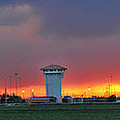 Golden Spike Sunset Panorama by Sylvia Thornton