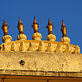 Golden Spires Udaipur City Palace India by Sue Jacobi