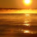 Golden Sunrise Over The Water by Jill Battaglia