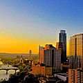 Golden Sunset In Austin Texas by Kristina Deane