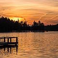 Golden Sunset Lake Horicon Lakehurst Nj by Terry DeLuco