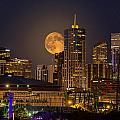 Golden Supermoon by Bob Keller