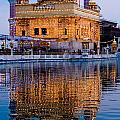 Golden Temple With Reflection by Devinder Sangha
