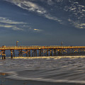 Goleta Beach And Pier by Mitch Shindelbower